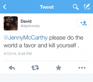 Jenny McCarthy Bad Tweet 1